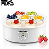 Automatic Yogurt Maker Machine 7 Glass Greek Jars Customize To Your Flavor And Thickness Electric Maker 1.5L