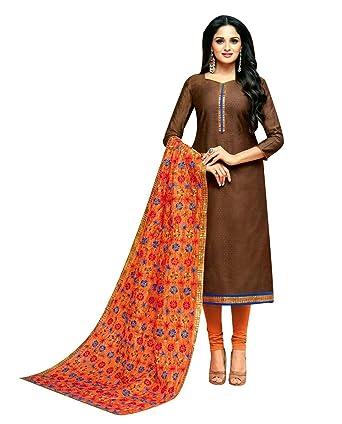 e2009089f8 Ladyline Heavy Embroidered Dupatta Chanderi Silk Salwar Kameez Womens Ready  to Wear Indian Dress at Amazon Women's Clothing store: