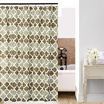 Shield Creator Beige Moroccan Shower Curtain