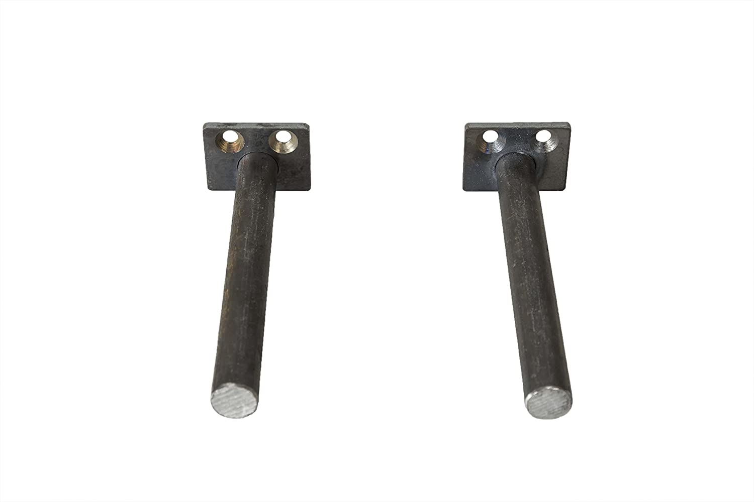 "Heavy Duty Solid Steel 2/"" Mounting Supports Floating Shelf Brackets Set of 2"