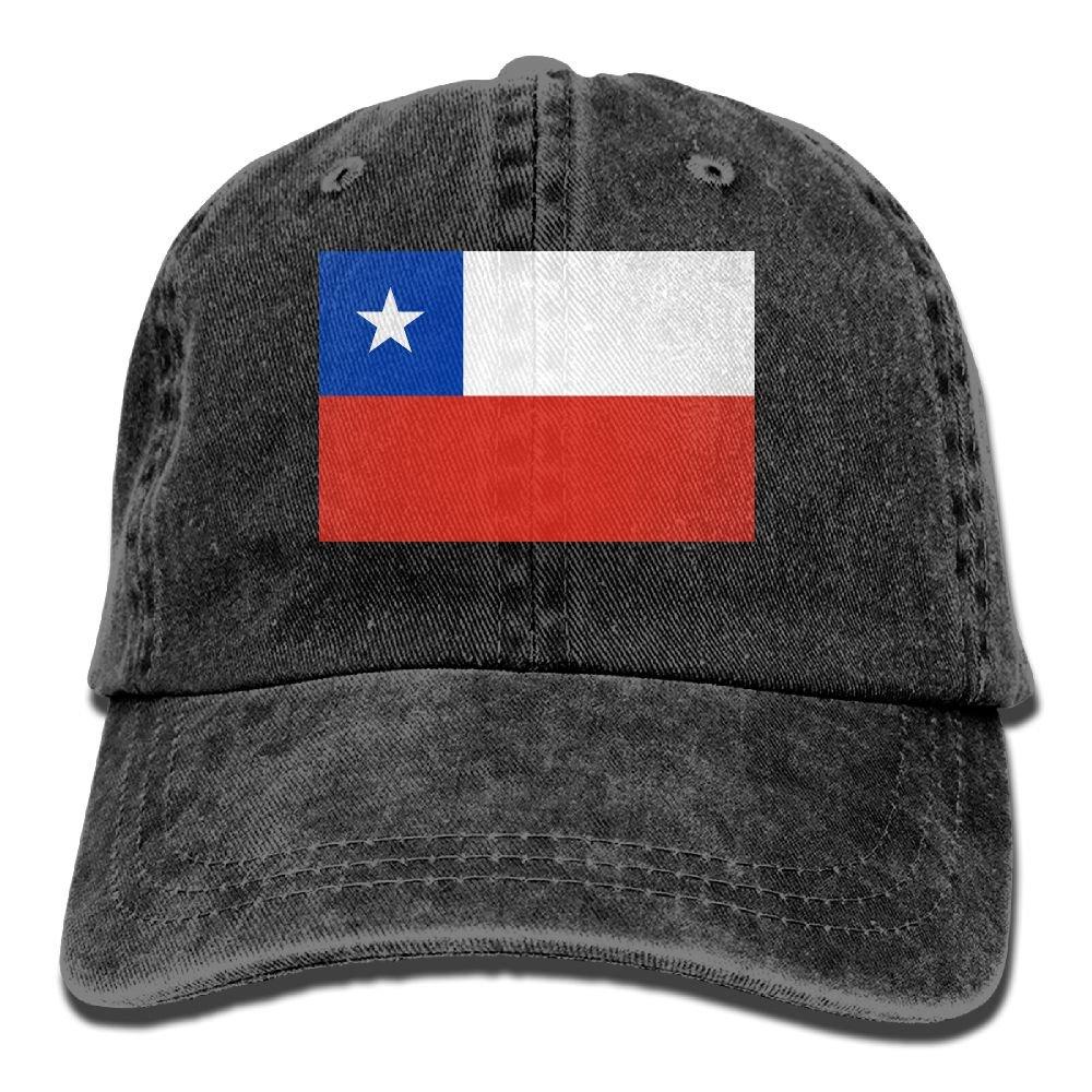 XZFQW Flag Of Chile Trend Printing Cowboy Hat Fashion Baseball Cap For Men and Women Black