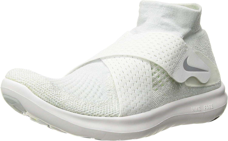 Nike W Free Rn Motion Fk 2017 Women S Trail Running Shoes White White Wolf Grey Pure Platinum Volt 100 7 5 Uk 42 Eu Sports Outdoors