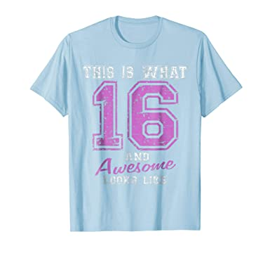 Mens 16th Birthday Shirt 16 Year Old Girl Gifts Ideas 2XL Baby Blue