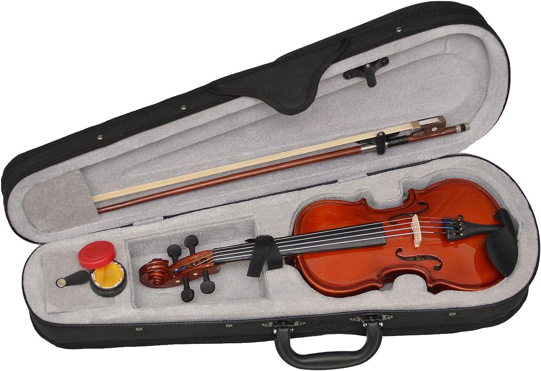 ts-ideen - Violín infantil (1/32, para niños de 2 a 3 años, incluye estuche, colofonia y arco de crin): Amazon.es: Instrumentos musicales