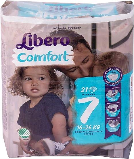 16-26kg 8 Packs of 21 Libero Comfort 7 - Case