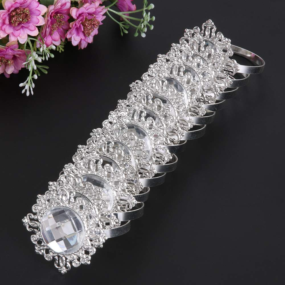 Culturemart 12pcs/Set Acrylic Diamond Design Napkin Rings for Wedding Receptions Gifts Holiday Banquet Dinner Christmas Table Decoration by Culturemart (Image #7)