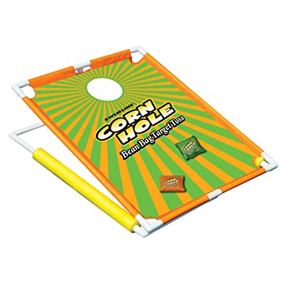 """36"""" Water Sports Floating Corn Hole Bean Bag Target Toss Swimming Pool Game: Toys & Games"""