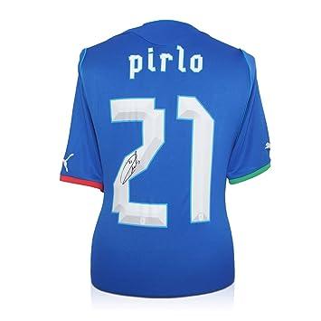 Andrea Pirlo Italia Firmado camiseta de fútbol