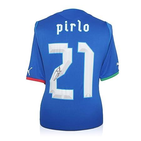 Andrea Pirlo Italia Firmado camiseta de fútbol: Amazon.es: Deportes y aire libre