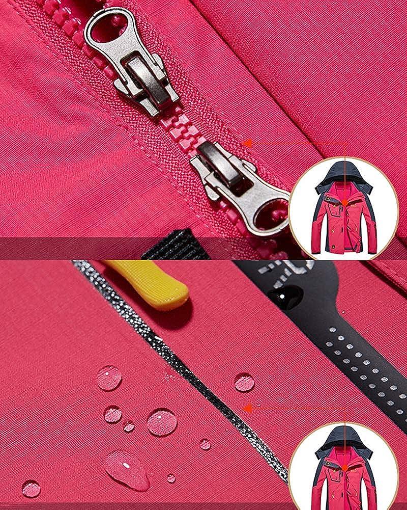 3 in 1 Winter Jacket Women/'s Outdoor Waterproof Ski Jacket Softshell Raincoat Snowboard Coat