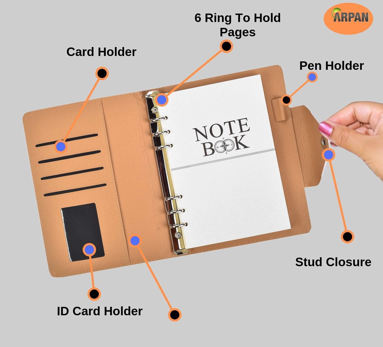 /à la maison 3 couleurs au bureau Carnet dadresses de poche rembourr/é en similicuir de A /à Z