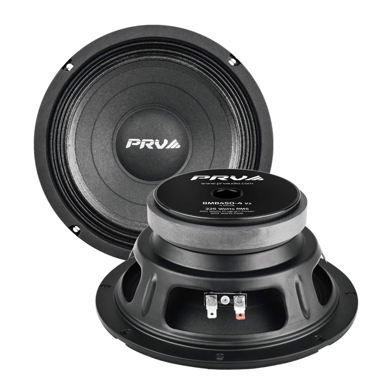 PRV AUDIO 8MB450-4 v2 8'' Mid Bass 4 ohms Pro Audio Speaker 93.5dB 225Watts RMS 2'' VC (Single)