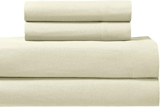 Amazon Com Royal S Heavy Soft 100 Cotton Flannel Sheets 4pc Bed Sheet Set Deep Pocket Thick Heavy And Ultra Soft Cotton Flannel Ivory California King Home Kitchen