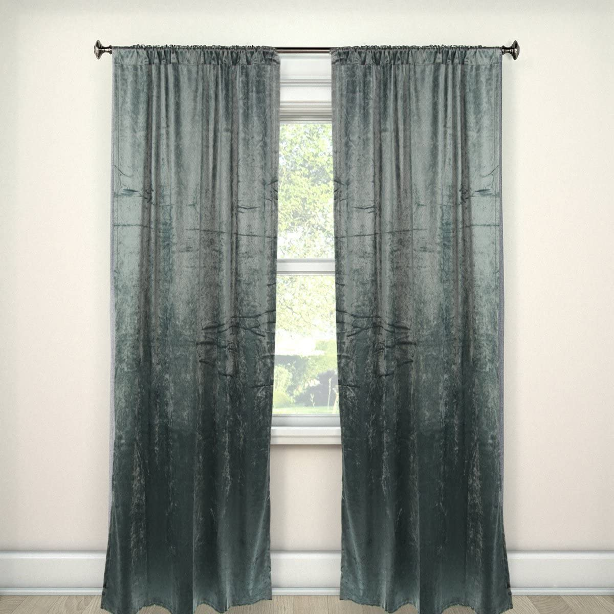 Amazon Com Umbra Set Of 2 Drapes Window Curtains For Living Room Curtains For Bedroom 50 X 96 Inch Curtains Home Decor Home Kitchen