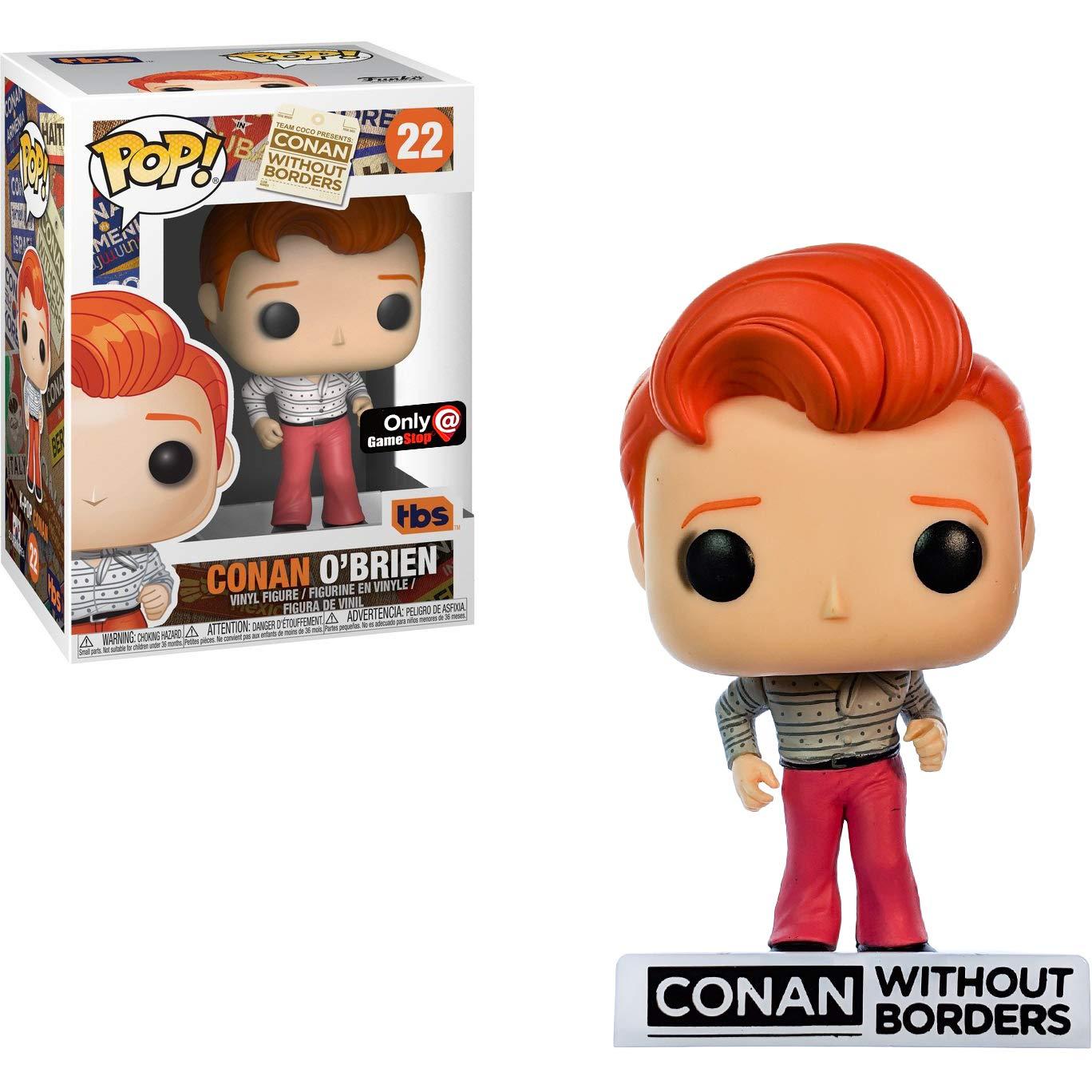 GameStop Exclusive : Conan Without Borders x POP Funko Conan OBrien Vinyl Figure /& 1 POP Compatible PET Plastic Graphical Protector Bundle BCC9U6093 #022 // 34932 - B