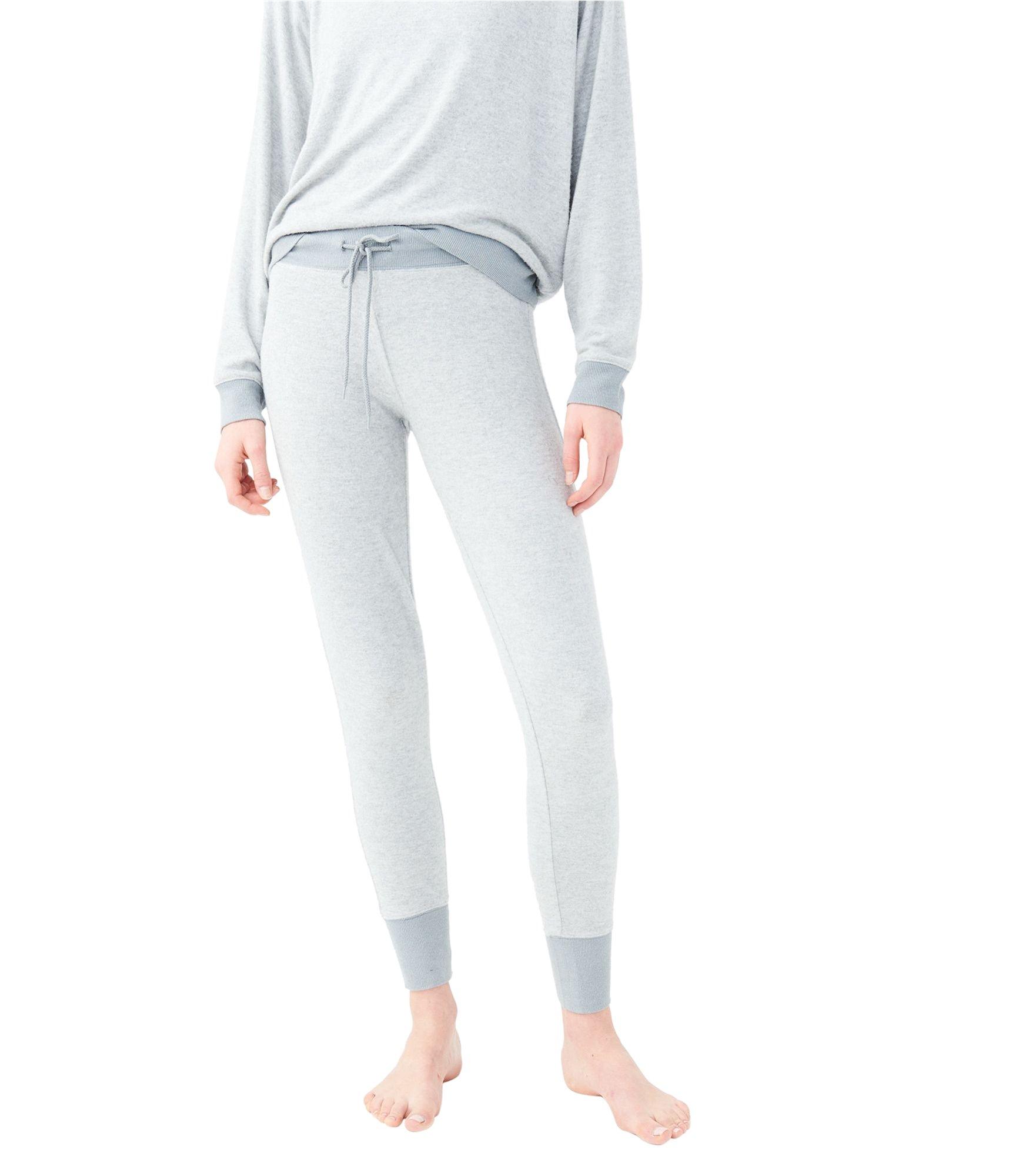 Aeropostale Womens Fuzzy Pajama Jogger Pants Grey XS/28 - Juniors