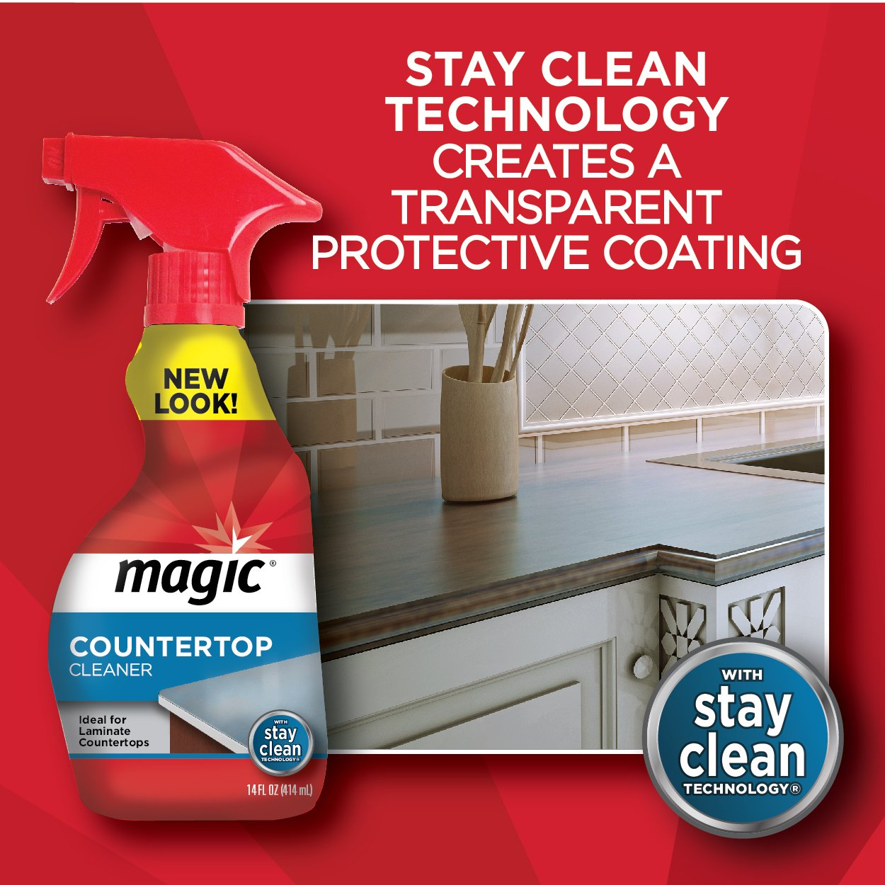 Cabinet Magic Cleaner Amazoncom Magic Countertop Cleaner 14 Fl Oz Health Personal Care