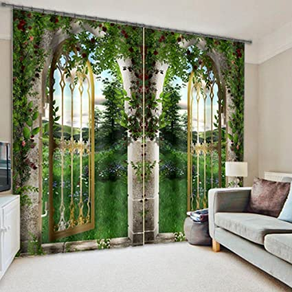 Popular Amazon.com: Green Natural Scenery View Print 3D Blackout Curtain  SC26