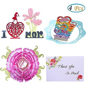Amazon Happy Birthday Mom Cards 3d Pop Up Greeting Cards I