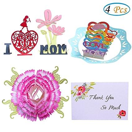 Amazon happy birthday mom cards 3d pop up greeting cards i happy birthday mom cards3d pop up greeting cards i love mom handmade m4hsunfo