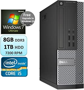 Dell Optiplex 7020 Business Desktop Small Form Factor SFF Intel Quad Core i5 i5-4590 8GB RAM 1TB HDD Windows 7 Ultimate