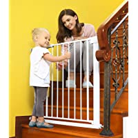 Baby Gates for Stairs and Doorways Dog Gates for The House, 30-40.5 inches - Indoor Safety Gates for Kids or Pets, Walk…