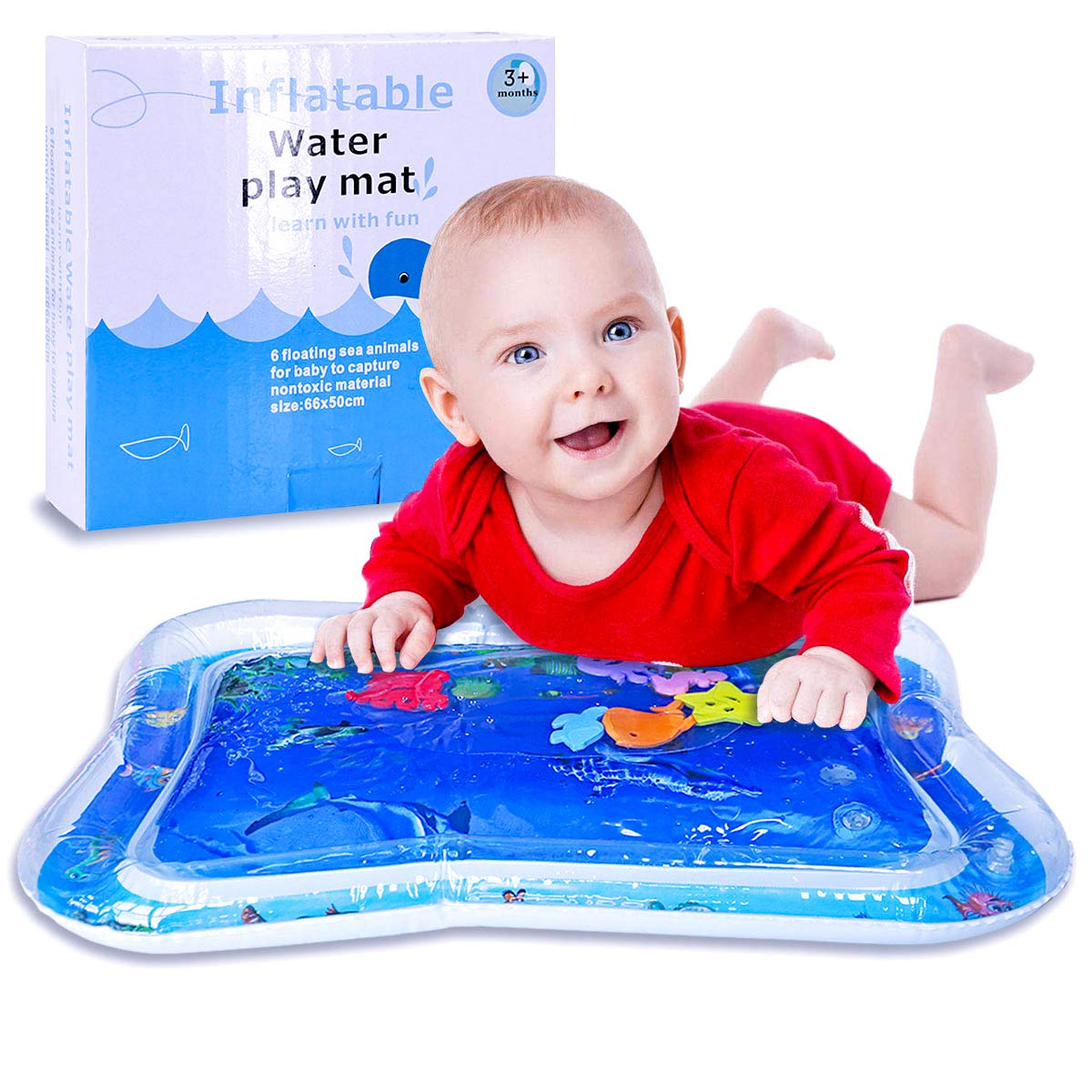 PHYLES Alfombra Inflable con Agua, Juguetes para Bebés y niños ...
