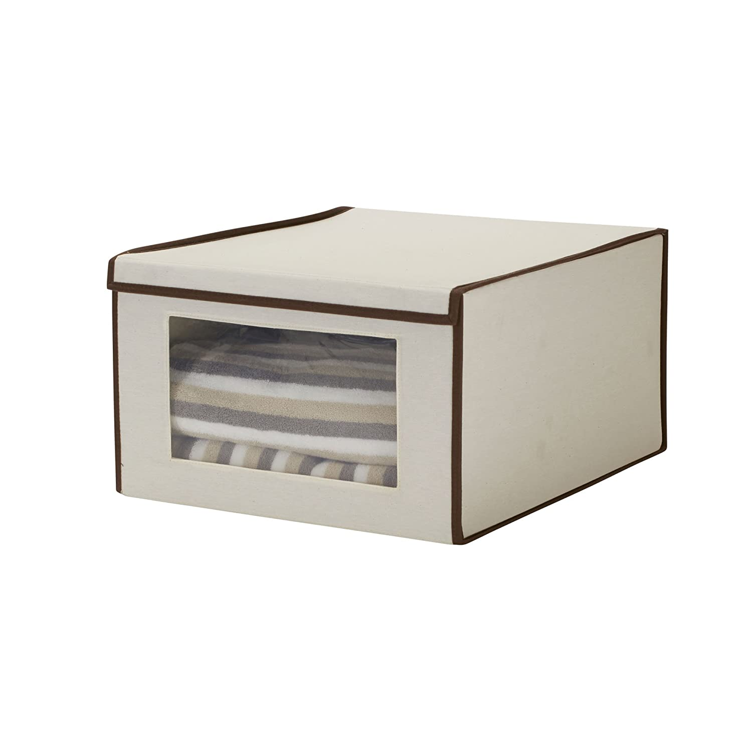 Household Essentials 502 Drop Front Vision Storage Box Large
