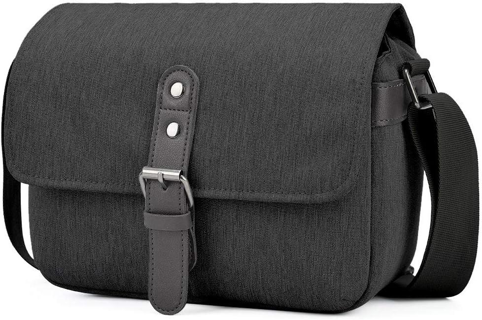 CADEN Camera Shoulder Bag Compact, DSLR SLR Mirrorless Camera Case Bag for Nikon Canon Sony Mirrorless Cameras and Lenses