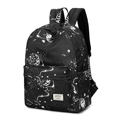 319a0b1cb212 Image Unavailable. Image not available for. Color  Joymoze Waterproof Cute  School Backpack for Boys and Girls Lightweight Chic Prints Bookbag Black