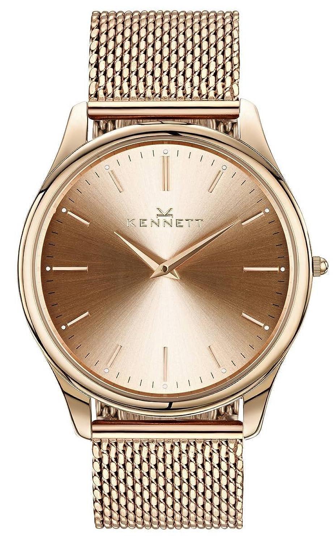 Rose Gold Kensington Milanaise Herren-Armbanduhr von Kennett (