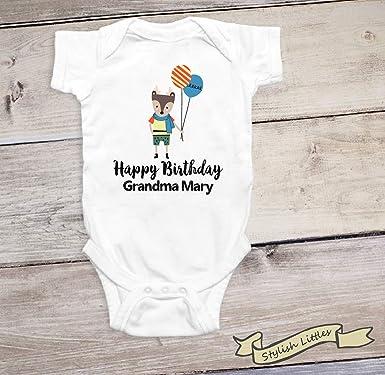 Amazon.com: Grandma Onesie personalizado abuela regalo feliz ...
