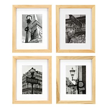 Amazoncom One Wall Tempered Glass 8x10 Picture Frame Solid Wooden