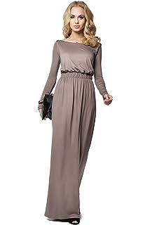 Fortan Women Casual Langarm Maxi Kleid Partei langes Kleid