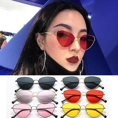 b29912df5d7 Clearance Sale!OverDose Men Women Summer Vintage Retro Cat Eye Glasses  Unisex Sunglasses( 1)  Amazon.co.uk  Clothing