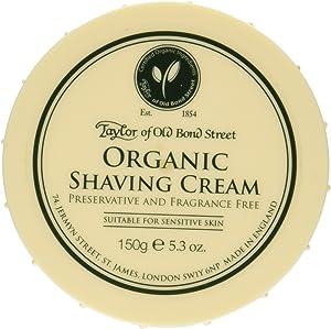 Taylor of Old Bond Street Organic Shaving Cream w/Aloe & Jojoba *New* 5.3 oz.