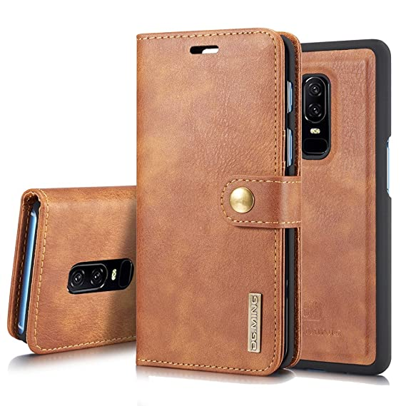 new style f5a17 bdcc7 Amazon.com: Oneplus 6 Leather Wallet Case, ZHFLY Magnetic Closure ...