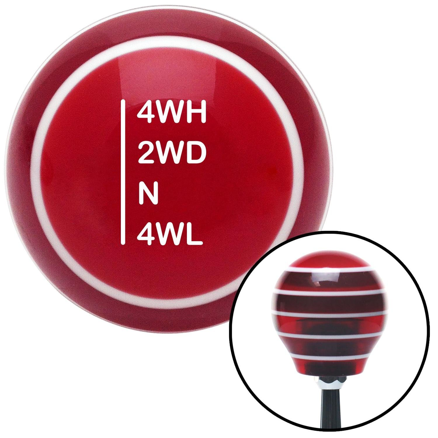 White Shift Pattern 53n American Shifter 117909 Red Stripe Shift Knob with M16 x 1.5 Insert