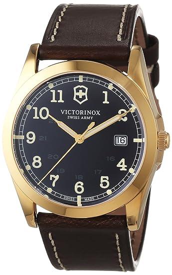Victorinox Swiss Army Reloj para Hombre de Cuarzo con Correa en Cuero 241645: Amazon.es: Relojes