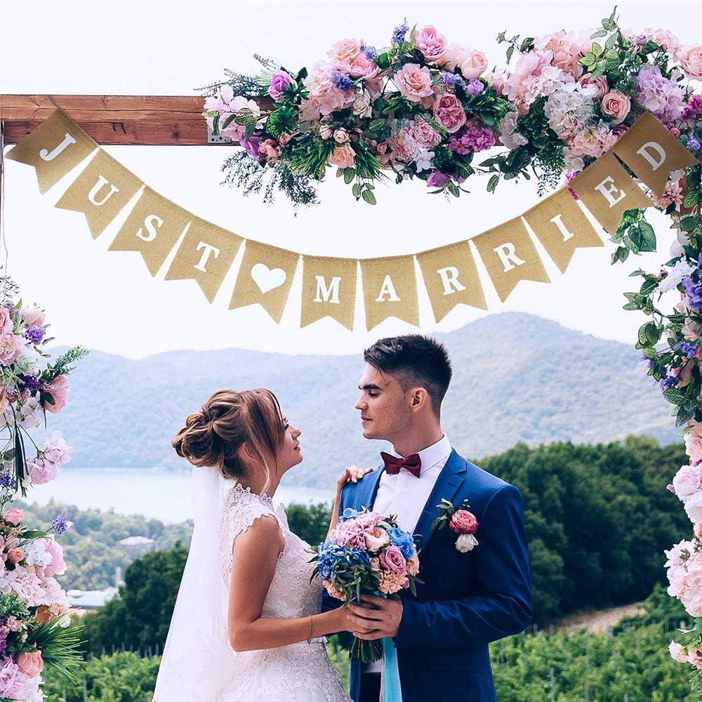 Stoffgirlande Vintage Hochzeit