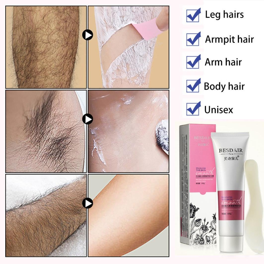 TAOtTAO - Brazos para el cuerpo de las piernas de crema depilatoria suave y depilatoria, color crema: Amazon.es: Bricolaje y herramientas