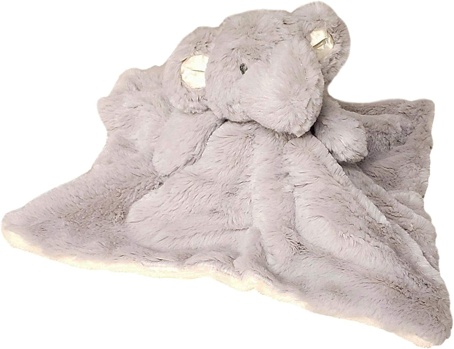 Grey Elephant - NO Embroidery SONA G DESIGNS Custom Personalized Elephant Lovie Lovey Security Blanket with Rattle