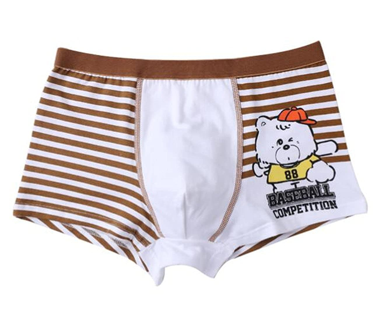 Boys Boxer Brief Sports Underwear Cotton Panties Shorts 4-Pack