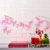 willway Flamingo String Lights, 1.6m 10LEDs Battery Operated Flamingo Fairy Lights for Garden Patio Bedroom Wedding Party Christmas Decoration