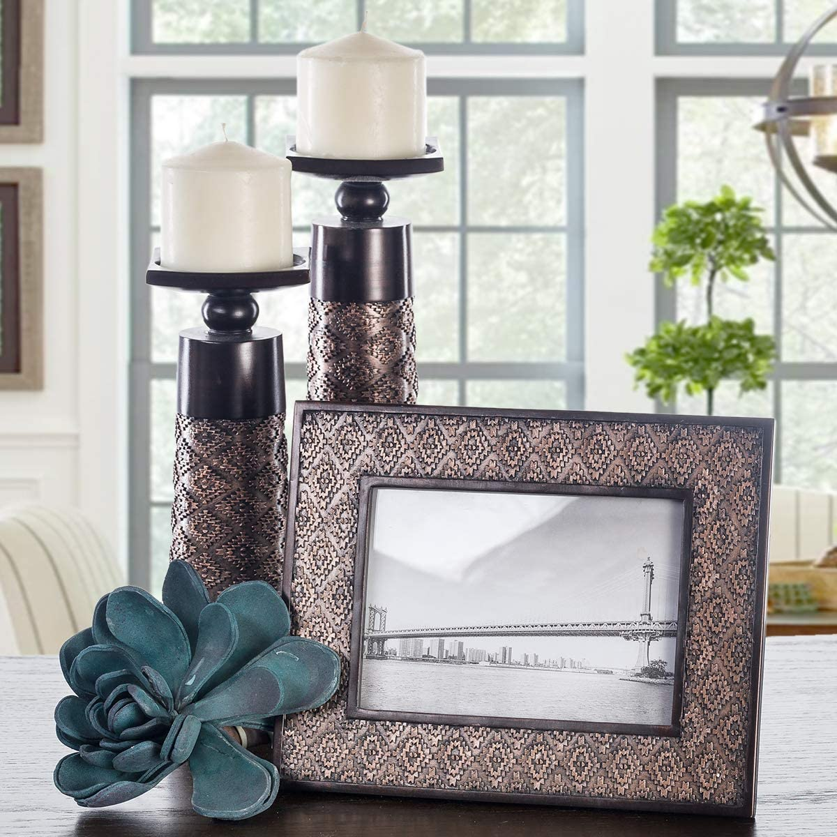 Living Or Dining Room Table Coffee Brown Home Decor Centerpiece For Fireplace Creative Scents Dublin Set