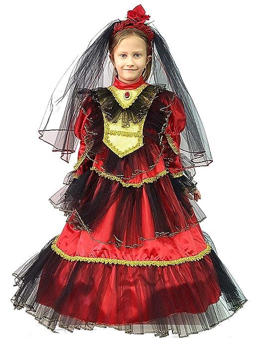 PICCOLI MONELLI Costume Spagnola Bambina 2 3 Anni Vestito Modello  Principessa carmencita di Carnevale Misura da e983a77211b