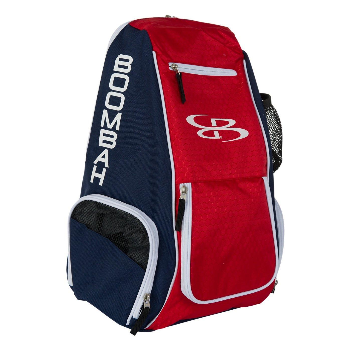 Boombahスパイクバレーボールバックパック – 10カラーオプション – Holdsボール、靴、水ボトルand More B01NBDQ7MHネイビー/レッド