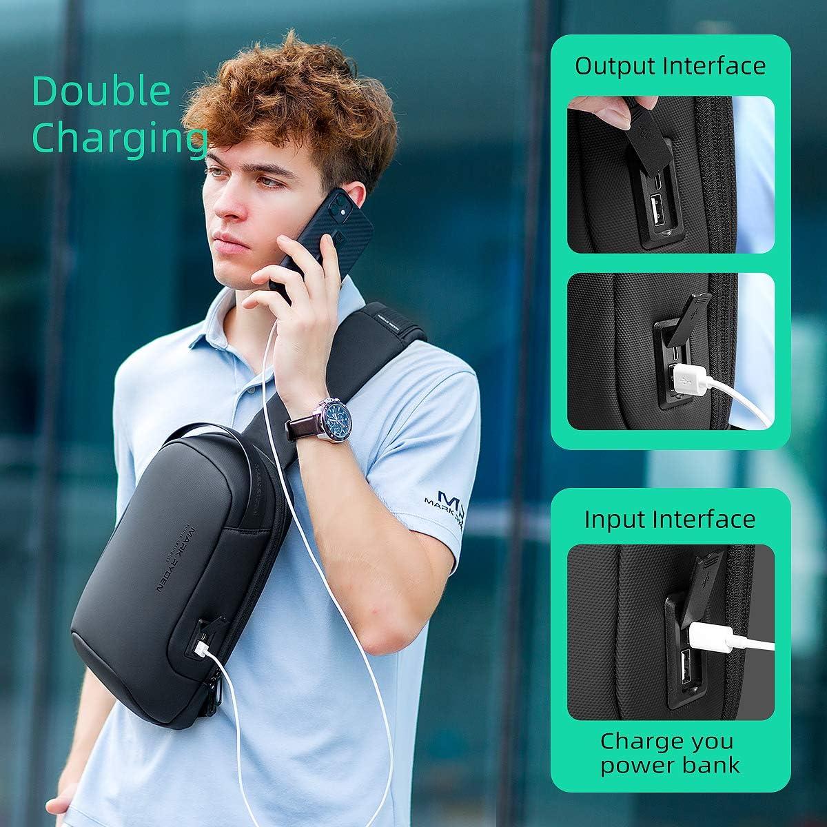 ni/ñas ni/ños ligera Mark Ryden Bolso bandolera,Mochila bandolera impermeable con hombro grande con USB para iPad de 9,7 pulgadas casual para hombres mujeres