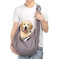 AGPTEK nosidełko dla zwierząt domowych, torba na ramię dla zwierząt domowych pasuje do średnich rozmiarów kotów i psów…