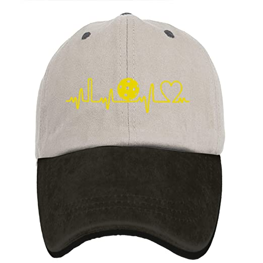 408c33659e4c8 OPS Pickleball Heartbeat Golden Adult Sport Adjustable Baseball Cap Dad Cap